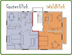 Grundriss Ferienwohnungen Haus Wälde